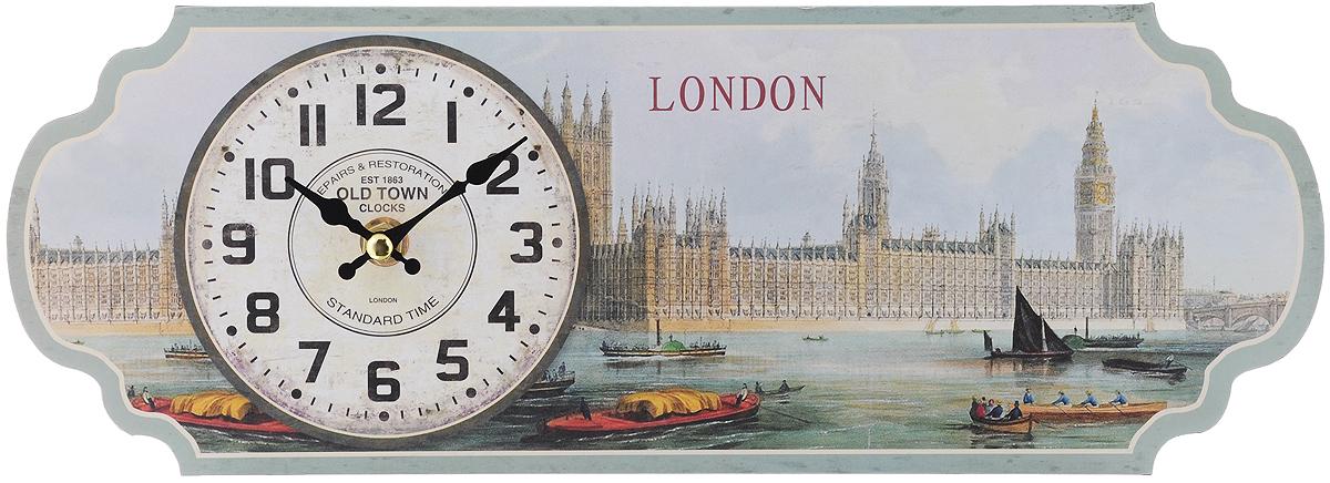 Часы настольные Феникс-Презент Темза, 36 х 13 см40720Настольные часы Феникс-Презент Темза своим эксклюзивным дизайном подчеркнут оригинальность интерьера вашего дома.Часы выполнены из МДФ в виде таблички с изображением набережной Темзы. МДФ (мелкодисперсные фракции) представляет собой плиту из запрессованной вакуумным способом деревянной пыли и является наиболее экологически чистым материалом среди себе подобных. Часы имеют две стрелки - часовую и минутную.Настенные часы Феникс-Презент Темза подходят для кухни, гостиной, прихожей или дачи, а также могут стать отличным подарком для друзей и близких.ВНИМАНИЕ!!! Часы работают от сменной батареи типа АА 1,5V (в комплект не входит).