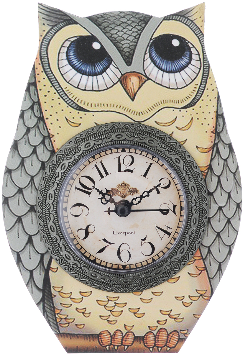 Часы настольные Феникс-Презент Желтая совушка, 15 х 20 см40734Настольные часы Феникс-Презент Желтая совушка своимэксклюзивным дизайном подчеркнут оригинальность интерьеравашего дома.Часы выполнены из МДФ в виде совы. МДФ(мелкодисперсные фракции) представляет собой плиту иззапрессованной вакуумным способом деревянной пыли и являетсянаиболее экологически чистым материалом среди себе подобных.Часы имеют три стрелки - секундную, часовую и минутную. Настольные часы Феникс-Презент Желтая совушкаподходят для кухни, гостиной, прихожей или дачи, а также могутстать отличным подарком для друзей и близких. ВНИМАНИЕ!!! Часы работают от сменной батареи типа АА1,5V (в комплект не входит).