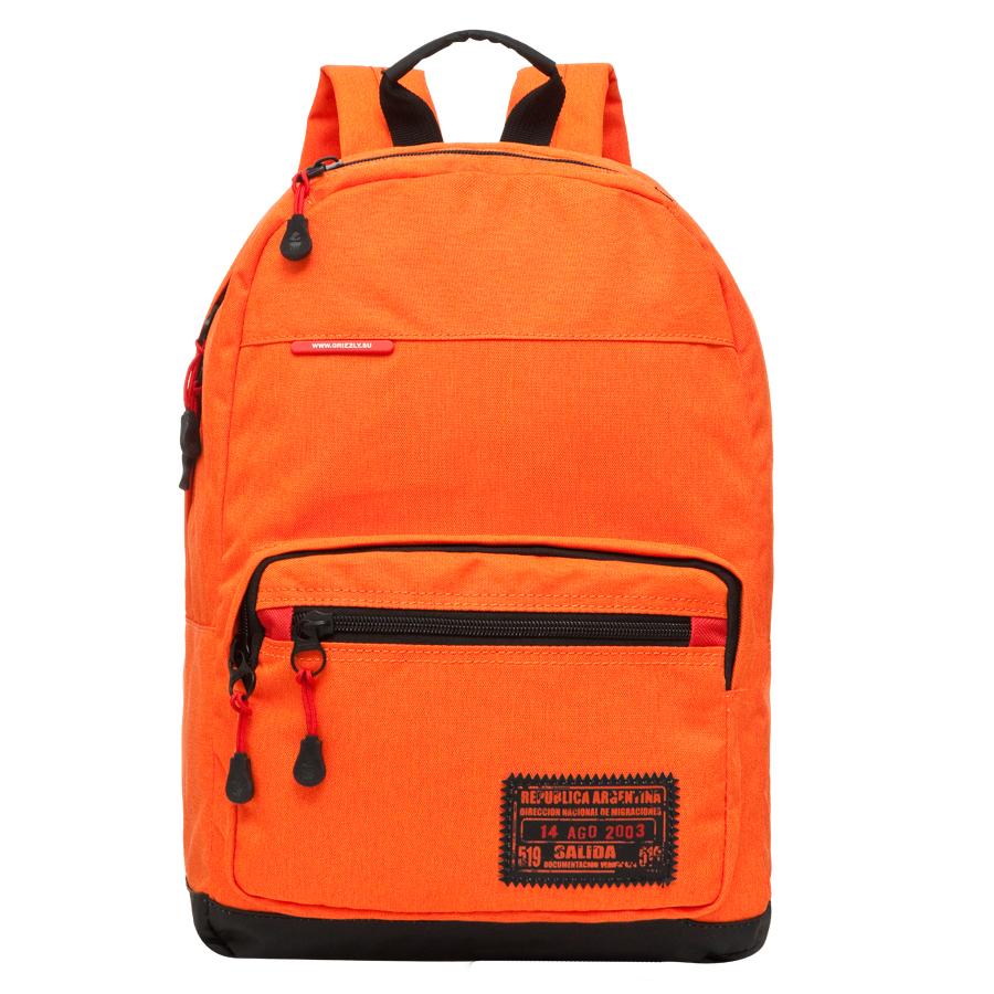 Рюкзак городской Grizzly, цвет: оранжевый, 25 л. RU-614-2/2 рюкзак городской grizzly цвет черный желтый 22 л ru 603 1 2