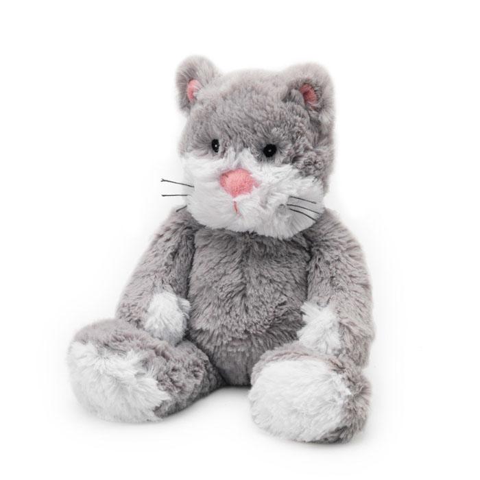 Warmies Мягкая игрушка-грелка Кот цвет серый warmies тапочки грелки цвет фиолетовый белый