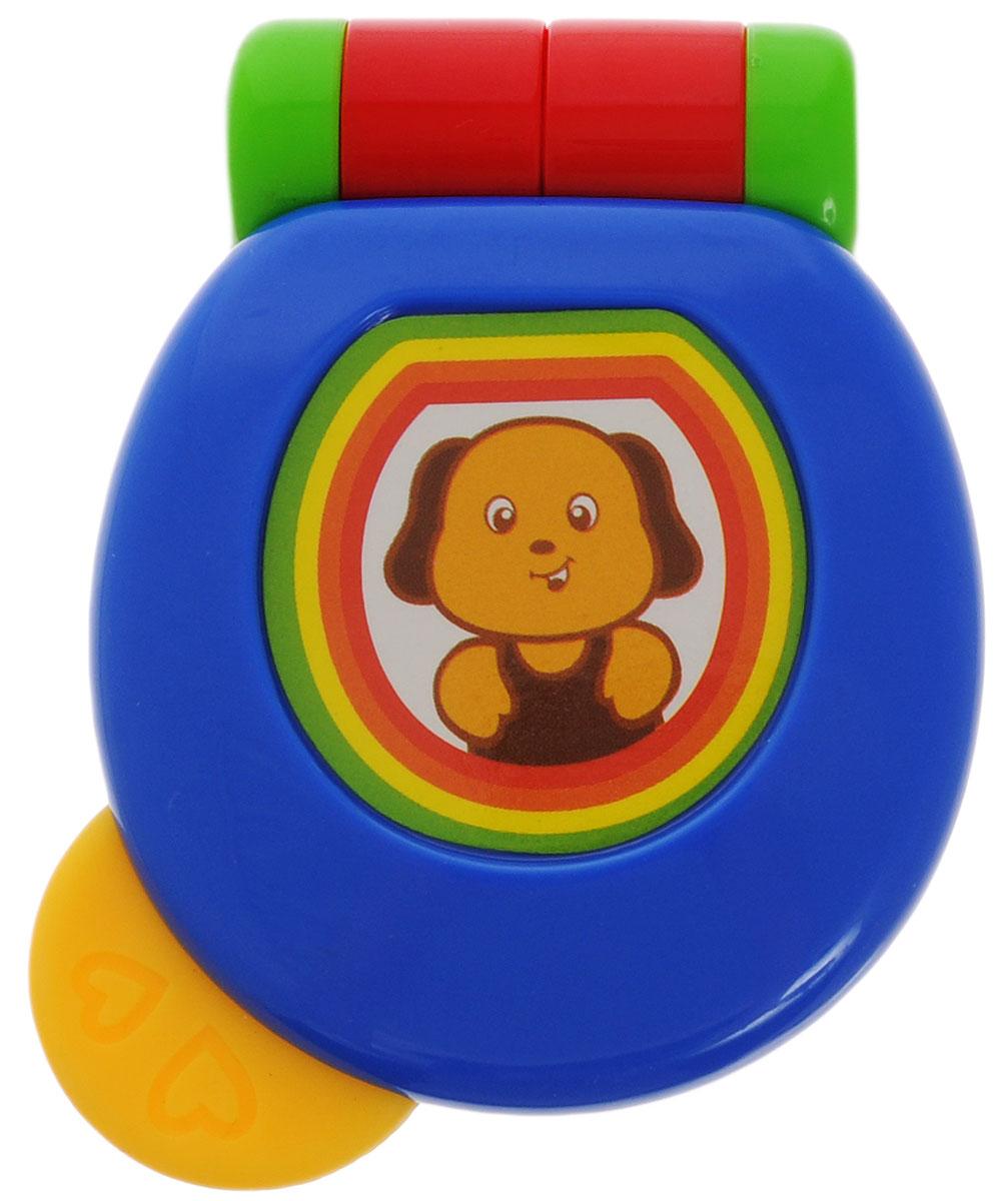 Малышарики Погремушка Веселый телефон цвет синий красный погремушка малышарики лягушка