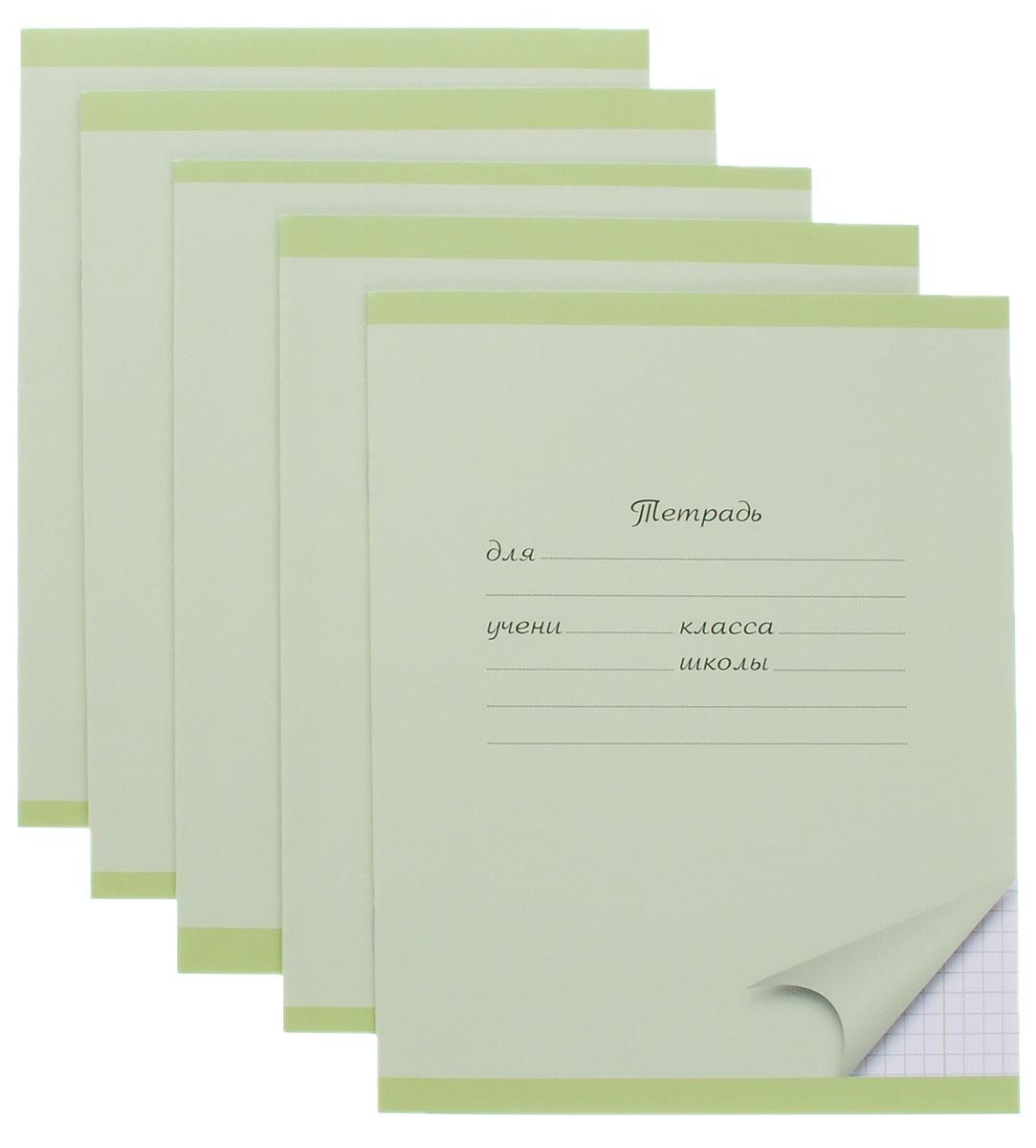 Action! Набор тетрадей 12 листов в клетку цвет зеленый 5 шт ктс про набор тетрадей вид из окна 48 листов в клетку цвет бордовый 5 шт