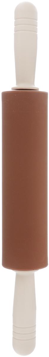 Скалка Calve, с вращающимися ручками, длина 40 смCL-4Скалка Calve изготовлена из высококачественного пластика и силикона. Вращающиеся ручки позволяют прикладывать меньше усилий при раскатывании теста и делают этот процесс намного приятнее и легче. Такая скалка станет незаменимой помощницей в приготовлении выпечки.Можно мыть в посудомоечной машине.Длина скалки: 40 см.Диаметр скалки: 5 см.Длина ручек: 10 см.