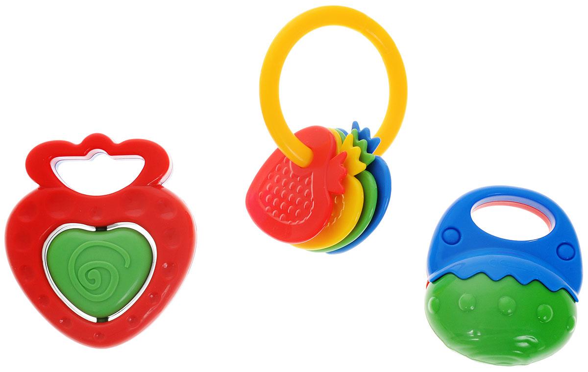 Simba Набор погремушек цвет красный зеленый 3 шт погремушки simba пирамида с шарами