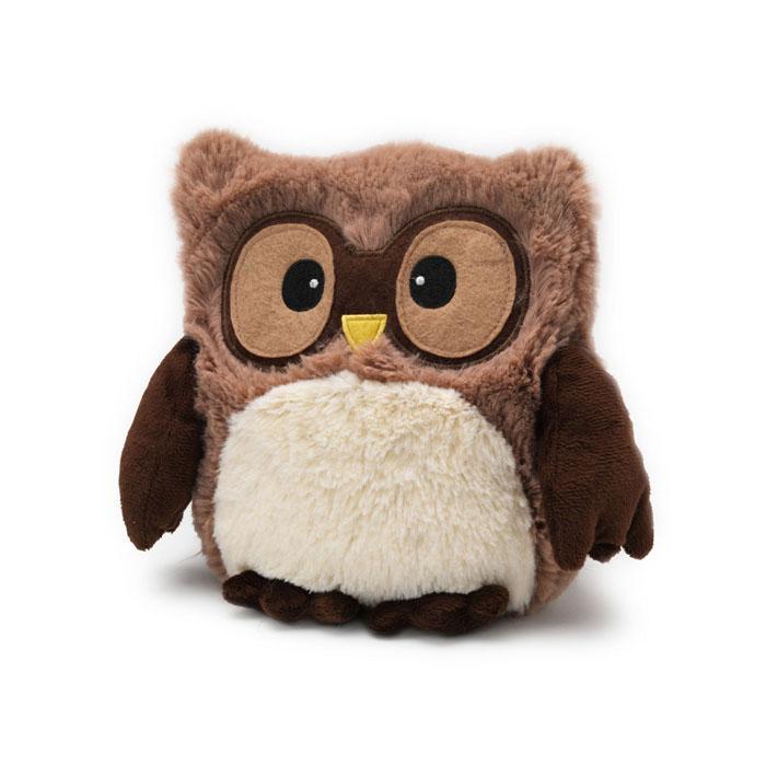 Warmies Мягкая игрушка-грелка Совенок цвет коричневый мягкая игрушка грелка лисица warmies cozy plush лиса коричневый текстиль cp fox 2