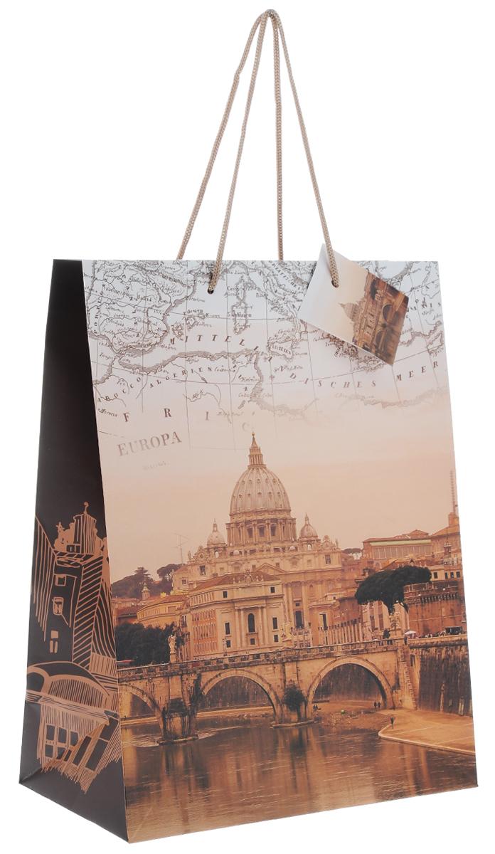 Пакет подарочный Феникс-Презент Рим, 26 х 32,4 х 12,7 см феникс презент подарочный пакет лимоны 26 32 4 12 7 см