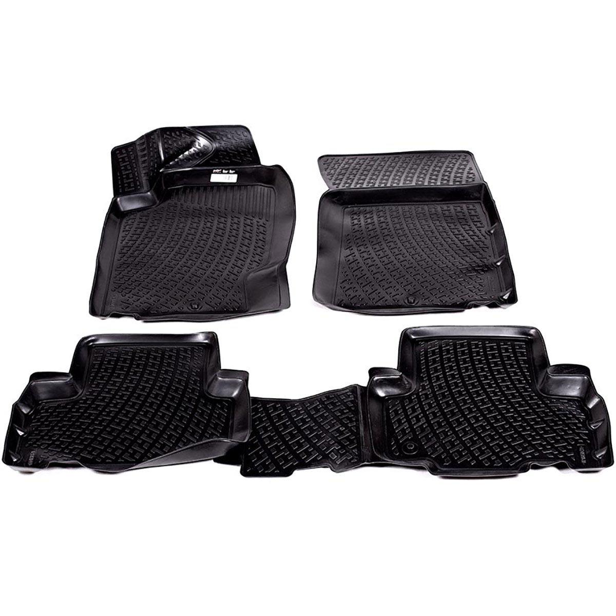 Коврики в салон автомобиля L.Locker, для SangYong Rexton II (07-), 4 шт218030401Коврики L.Locker производятся индивидуально для каждой модели автомобиля из современного и экологически чистого материала. Изделия точно повторяют геометрию пола автомобиля, имеют высокий борт, обладают повышенной износоустойчивостью, антискользящими свойствами, лишены резкого запаха и сохраняют свои потребительские свойства в широком диапазоне температур (от -50°С до +80°С). Рисунок ковриков специально спроектирован для уменьшения скольжения ног водителя и имеет достаточную глубину, препятствующую свободному перемещению жидкости и грязи на поверхности. Одновременно с этим рисунок не создает дискомфорта при вождении автомобиля. Водительский ковер с предустановленными креплениями фиксируется на штатные места в полу салона автомобиля. Новая технология системы креплений герметична, не дает влаге и грязи проникать внутрь через крепеж на обшивку пола.