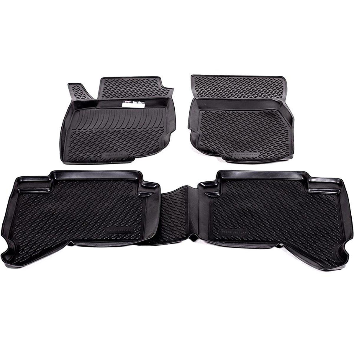 Коврики в салон Toyota Hilux Pick Up (10-) полиуретан0209120101Коврики производятся индивидуально для каждой модели автомобиля из современного и экологически чистого материала, точно повторяют геометрию пола автомобиля, имеют высокий борт от 3 см до 4 см., обладают повышенной износоустойчивостью, антискользящими свойствами, лишены резкого запаха, сохраняют свои потребительские свойства в широком диапазоне температур (-50 +80 С)