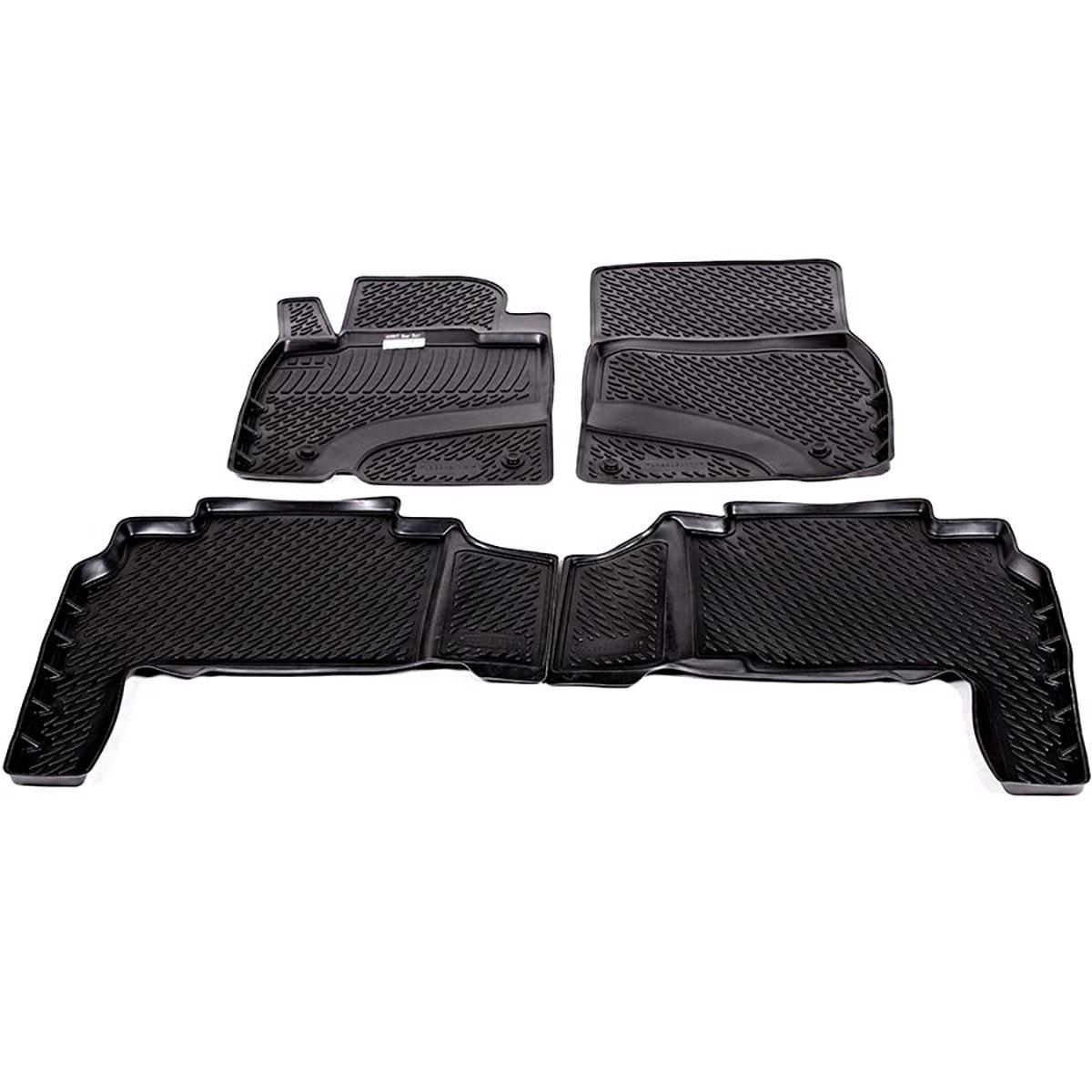Коврики в салон автомобиля L.Locker, для Lexus LX570 (07-), 4 шт0228020101Коврики L.Locker производятся индивидуально для каждой модели автомобиля из современного и экологически чистого материала. Изделия точно повторяют геометрию пола автомобиля, имеют высокий борт, обладают повышенной износоустойчивостью, антискользящими свойствами, лишены резкого запаха и сохраняют свои потребительские свойства в широком диапазоне температур (от -50°С до +80°С). Рисунок ковриков специально спроектирован для уменьшения скольжения ног водителя и имеет достаточную глубину, препятствующую свободному перемещению жидкости и грязи на поверхности. Одновременно с этим рисунок не создает дискомфорта при вождении автомобиля. Водительский ковер с предустановленными креплениями фиксируется на штатные места в полу салона автомобиля. Новая технология системы креплений герметична, не дает влаге и грязи проникать внутрь через крепеж на обшивку пола.