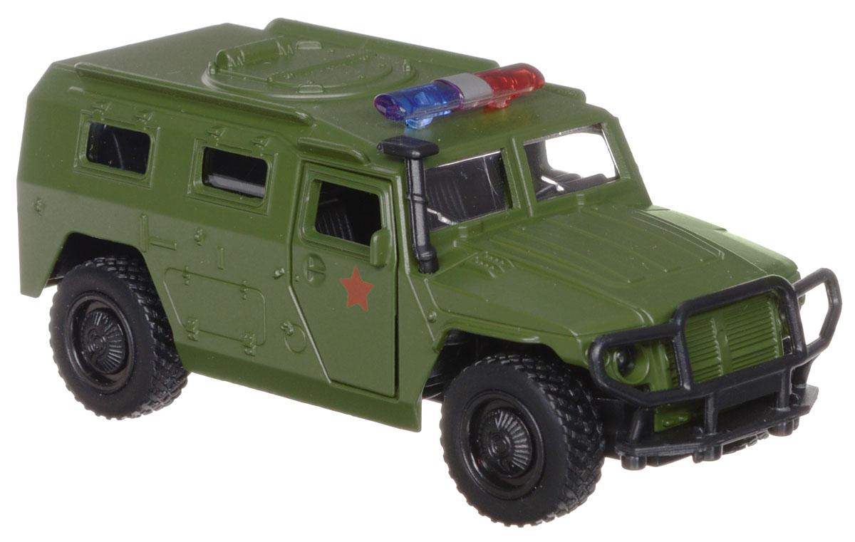 ТехноПарк Модель автомобиля ГАЗ Тигр Военная полиция tonka машинка полиция