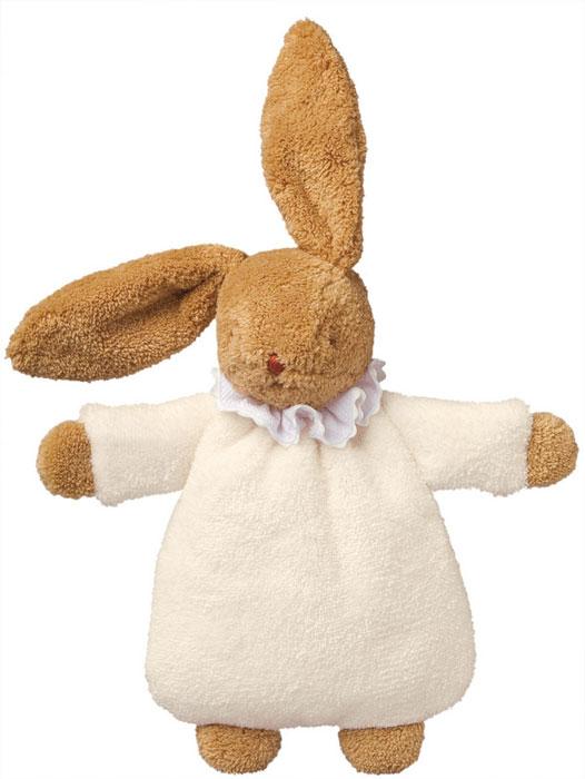 Trousselier Мягкая игрушка Зайка-погремушка цвет слоновая кость 19 см trousselier мягкая игрушка зайка с музыкой розовый 25см trousselier