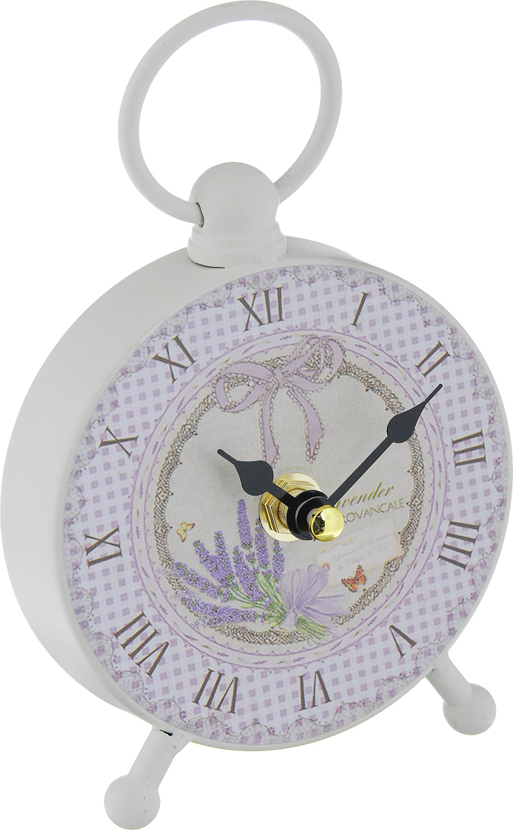 Часы настольные Феникс-Презент Бантик40739Настольные часы круглой формы Феникс-Презент Бантик своим эксклюзивным дизайном подчеркнут оригинальность интерьера вашего дома.Часы выполнены из металла, оформлены изображением бантика и клетчатым рисунком.Часы имеют две стрелки - часовую и минутную.Настольные часы Феникс-Презент Бантик подходят для кухни, гостиной, прихожей или дачи, а также могут стать отличным подарком для друзей и близких.ВНИМАНИЕ!!! Часы работают от сменной батареи типа АА 1,5V (в комплект не входит).
