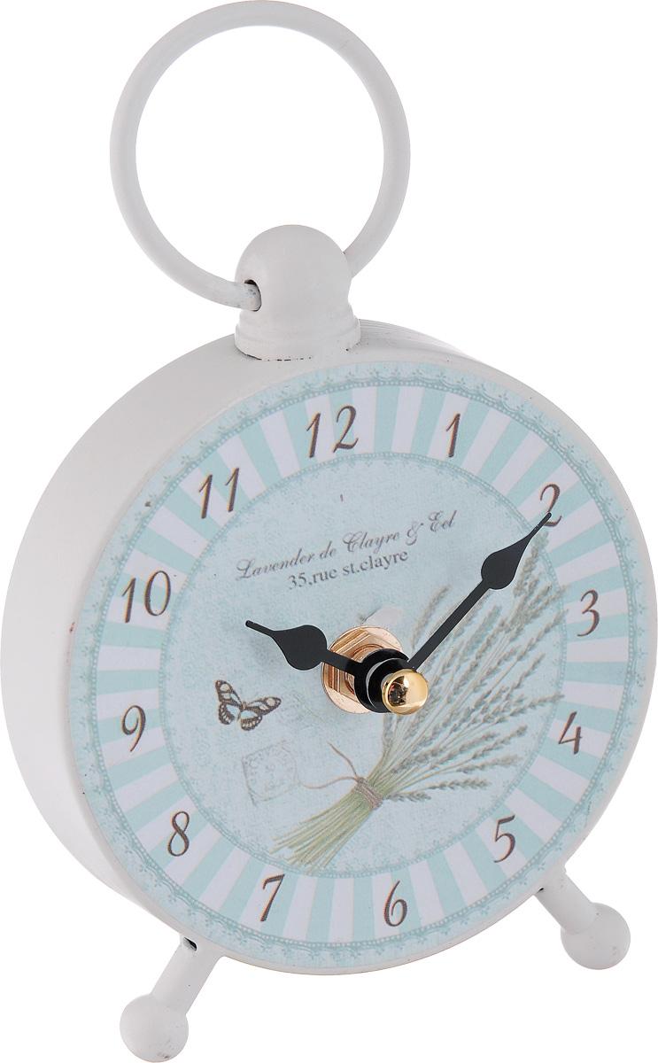 Часы настольные Феникс-Презент Полоски40738Настольные часы круглой формы Феникс-Презент Полоски своимэксклюзивным дизайном подчеркнут оригинальность интерьеравашего дома.Часы выполнены из металла и имеют двестрелки - часовую и минутную.Настольные часы Феникс- Презент Полоски подходят для кухни, гостиной, прихожей илидачи, а также могут стать отличным подарком для друзей иблизких. ВНИМАНИЕ!!! Часы работают от сменной батареи типа АА 1,5V(в комплект не входит).