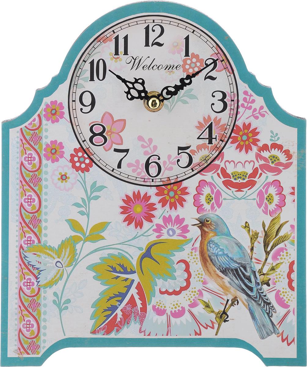 Часы настольные Феникс-Презент Соловей, 20 х 24 см40724Настольные часы Феникс-Презент Соловей своим эксклюзивным дизайном подчеркнут оригинальность интерьера вашего дома. Циферблат оформлен изображением цветов и соловья.Часы выполнены из МДФ. МДФ (мелкодисперсные фракции) представляет собой плиту из запрессованной вакуумным способом деревянной пыли и является наиболее экологически чистым материалом среди себе подобных. Часы имеют две стрелки - часовую и минутную.Настольные часы Феникс-Презент Соловей подходят для кухни, гостиной, прихожей или дачи, а также могут стать отличным подарком для друзей и близких.ВНИМАНИЕ!!! Часы работают от сменной батареи типа АА 1,5V (в комплект не входит).