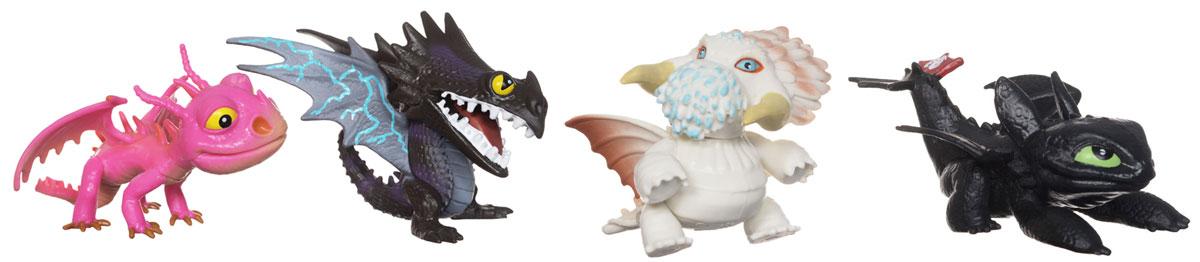 Набор мини-фигурок Dragons Коллекция маленьких драконов, 4 шт набор для битв dragons gronckle vs cronckle cannon