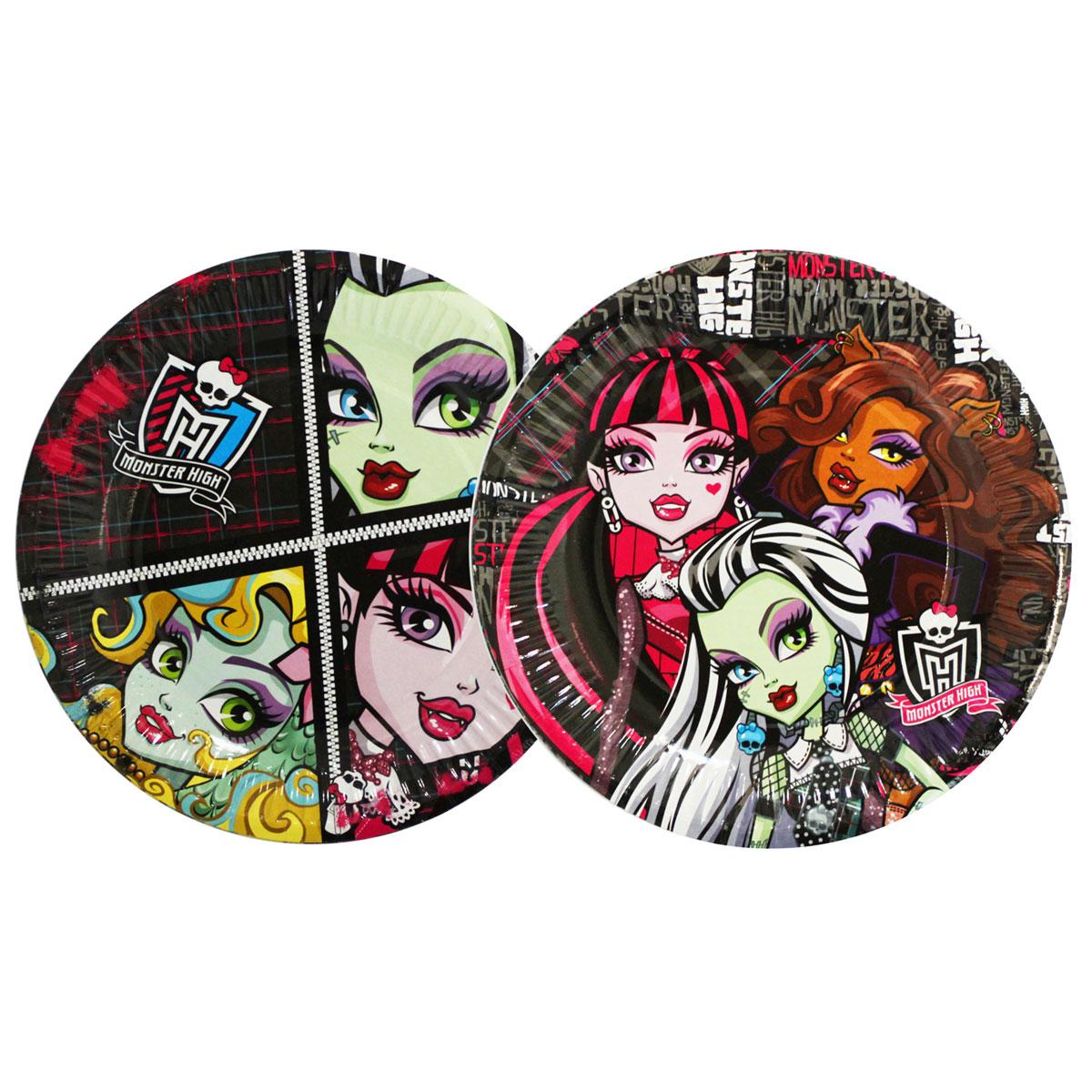 Monster High Тарелка бумажная 10 шт -  Сервировка праздничного стола