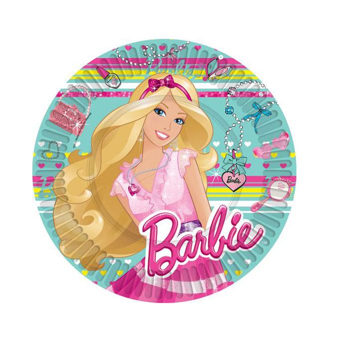 Barbie Тарелка бумажная 10 шт -  Сервировка праздничного стола