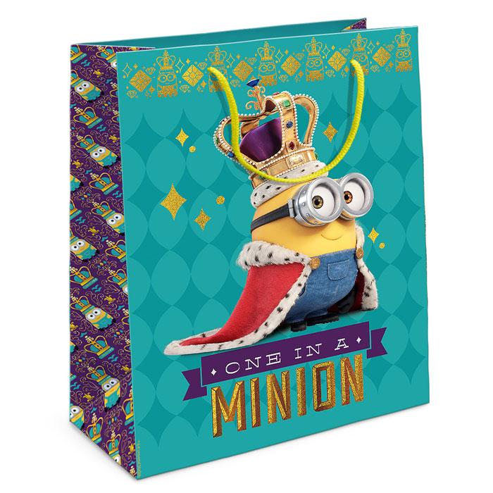 Universal Миньоны Пакет подарочный Миньон-король 35 см х 25 см х 9 см, Росмэн
