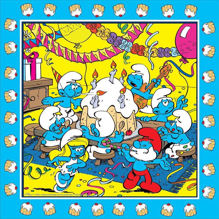 The Smurfs Салфетки двухслойные цвет голубой 20 шт -  Сервировка праздничного стола
