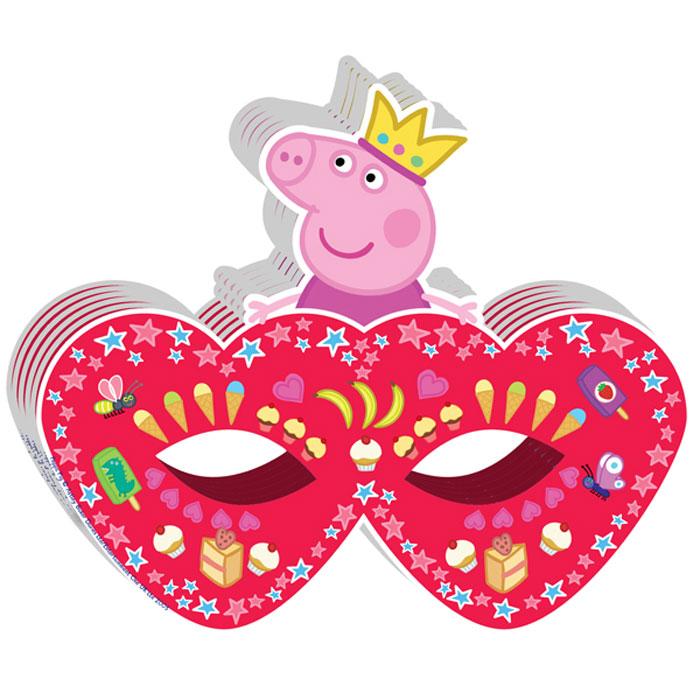Peppa Pig Маска бумажная Пеппа-принцесса -  Маски карнавальные