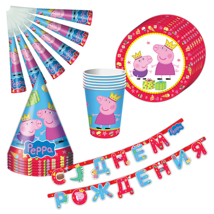 Peppa Pig Набор посуды Пеппа-принцесса 25 предметов наборы для праздника peppa pig набор посуды 25 предметов пеппа принцесса