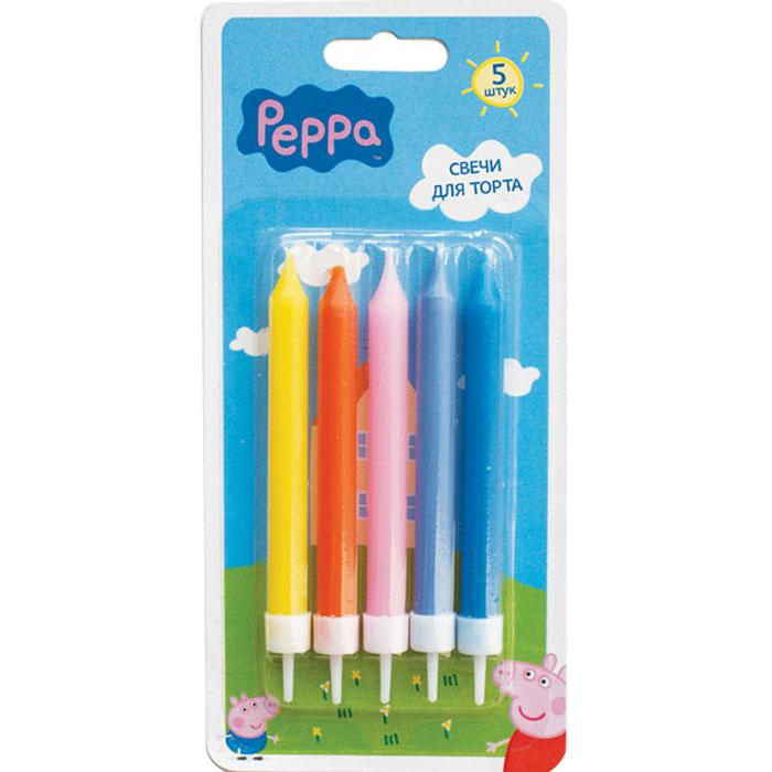 Peppa Pig Набор свечей с держателями 5 шт