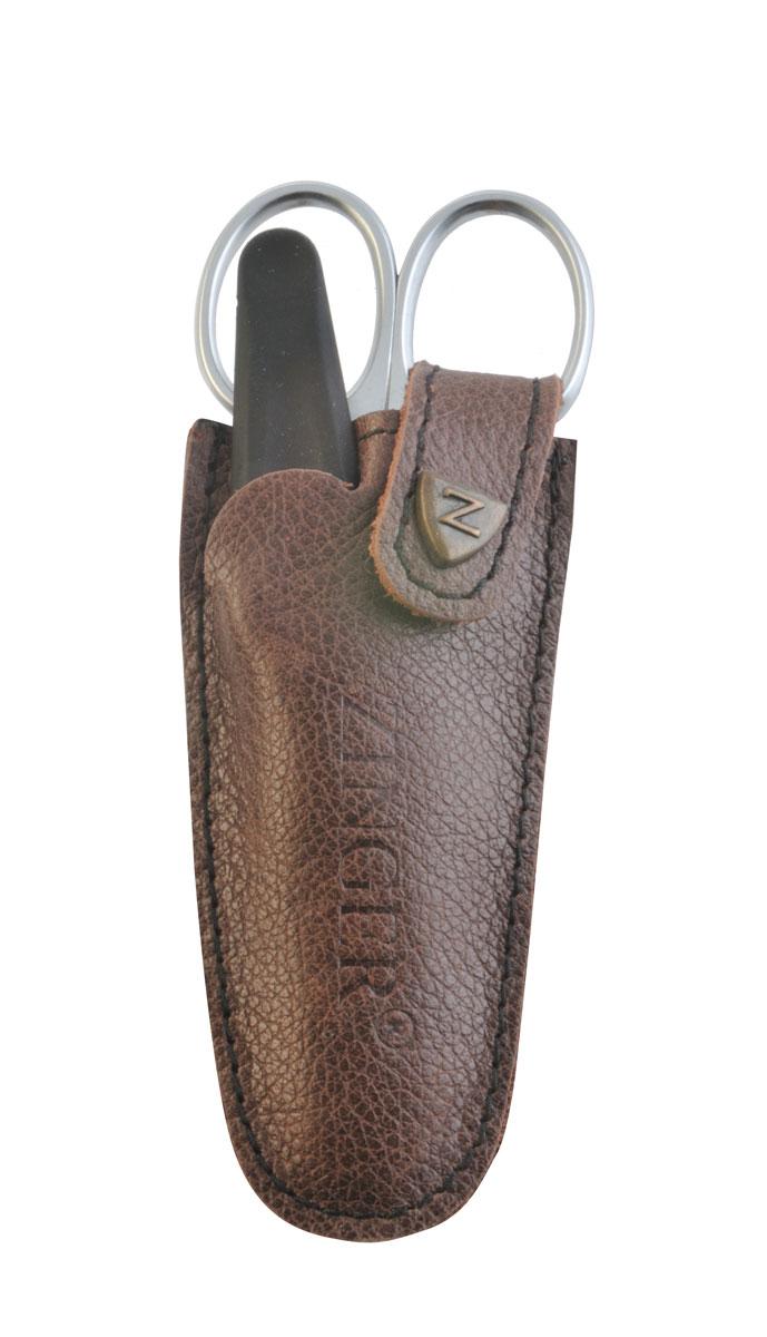 Zinger Маникюрный набор zMs Z-1 SM-N8602Ман. набор 2 предмета (ножницы кутикульные, пилка алмазная). Чехол натуральная кожа. Цвет инструментов - матовое серебро. Оригинальная фирменная коробка