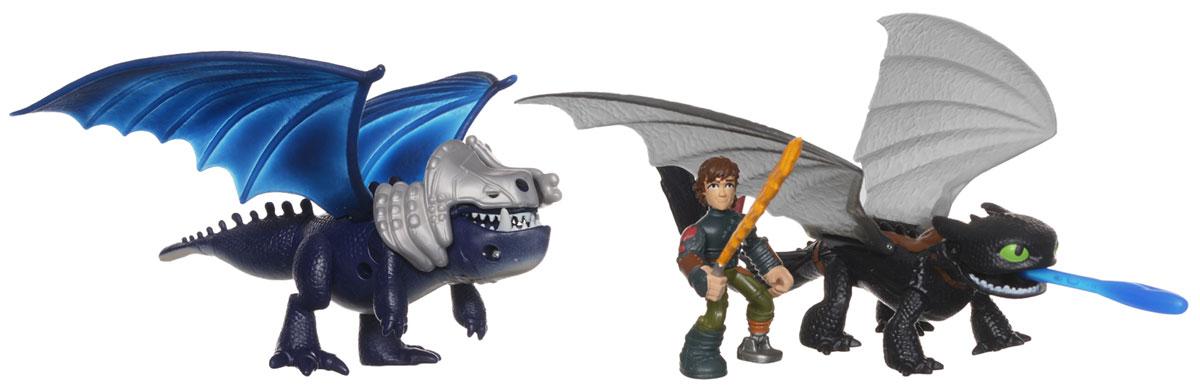 Dragons Игровой набор Беззубик и Иккинг против дракона цвет дракона синий dragons фигурка baby scuttleclaw