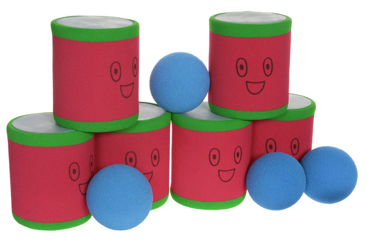 Safsof Игровой набор Городки цвет красный зеленый синий