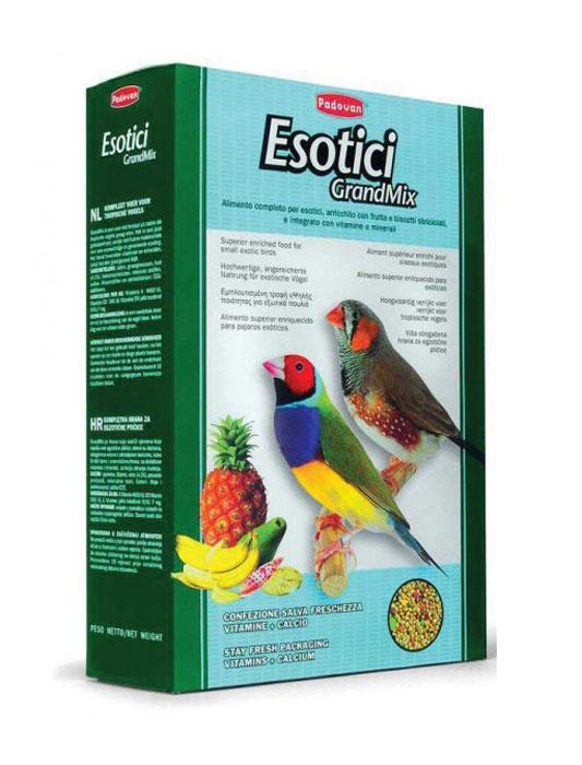 Корм Padovan Grandmix Esotici для экзотических птиц, 400 г корм для волнистых попугаев padovan grandmix cocorite