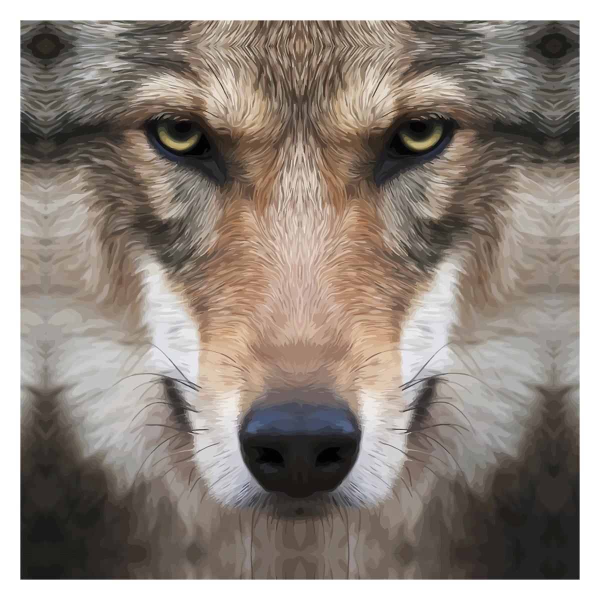Картина на холсте Decoretto Art Глаза хищника, 50 х 50 см картина на холсте decoretto art царь зверей 60 х 30 см