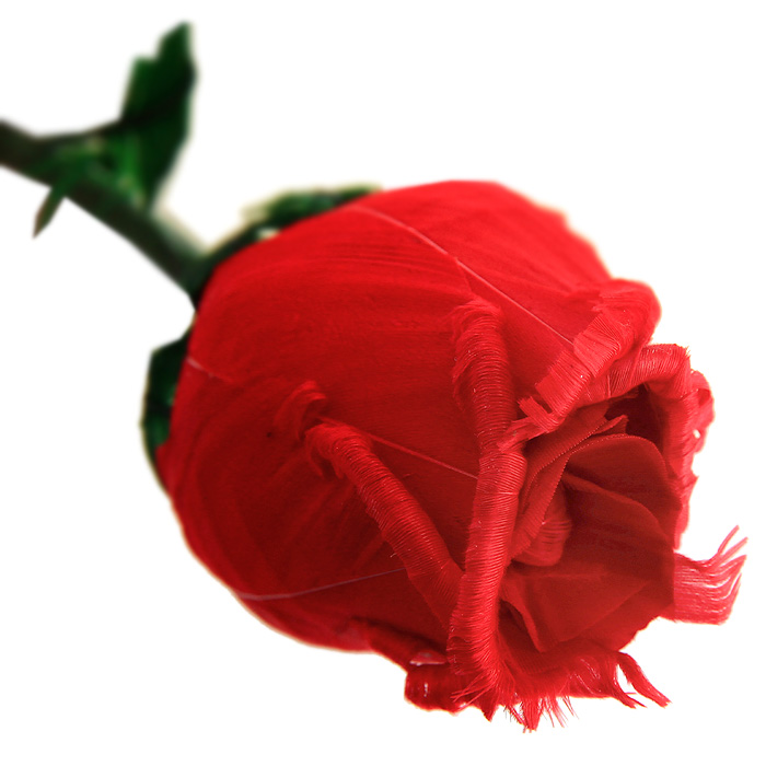 Роза из перьев Магия Роз, цвет: красныйРПМРКрасная роза, выполненная вручную из натуральных перьев, станет неожиданным и оригинальным подарком к любому празднику. Цветок ароматизирован натуральным розовым маслом. Такой подарок принесет радость и удивление своему получателю, а также надолго сохранит приятные воспоминания и ощущения праздника.Характеристики: Материал: натуральные перья, металл, бумага.Длина цветка: 50 см.Производитель: Китай.Артикул: РПМР.