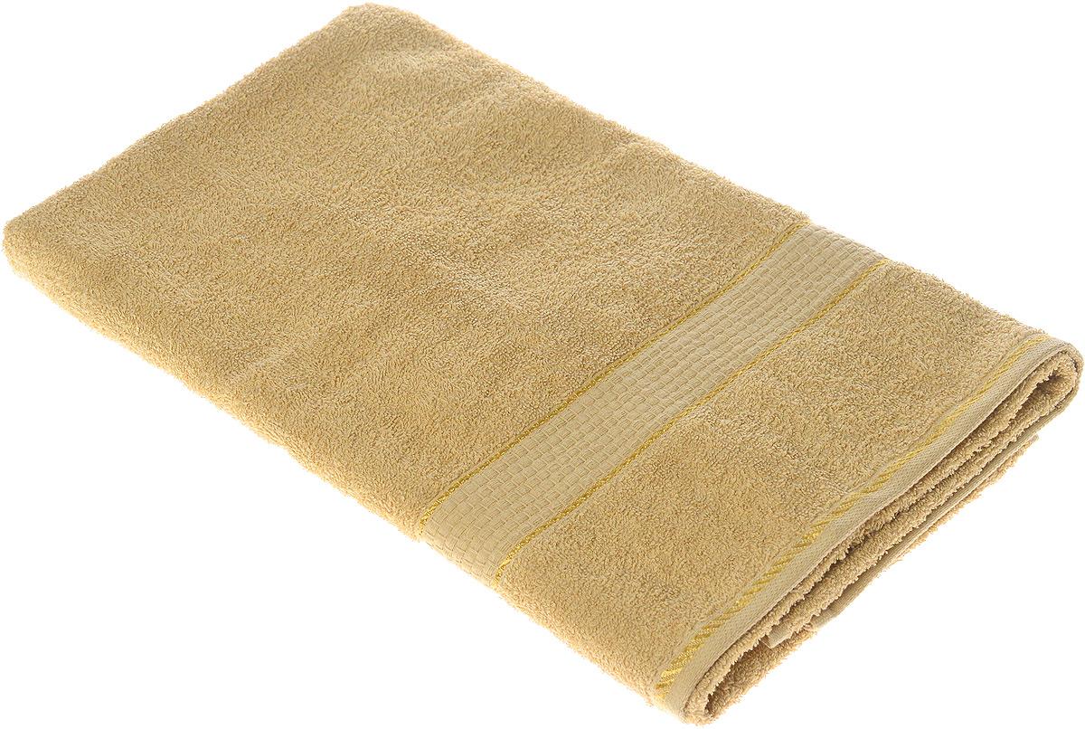 "Полотенце махровое Aisha Home Textile ""Соты"", цвет: бежевый, 70 х 140 см"