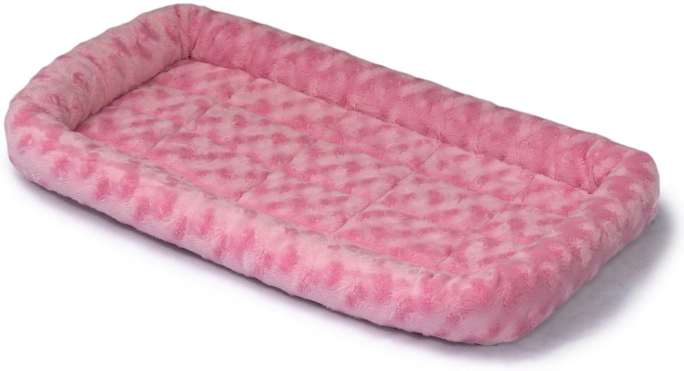 Лежанка для животныx Midwest Fasion, цвет: розовый, 76 x 53 см40230-PKMidwest лежанка Quiet Time .Лежанка идеально подходит для собак мелких пород и средних пород. Бортики лежанки защитят животное от сквозняков и холода, а искусственная овчина, которая наполняет лежанку, подарит тепло и комфорт во время отдыха.Стильная лежанка непременно впишется в любой интерьер. Лежанка легко складывается для переноски и хранения.