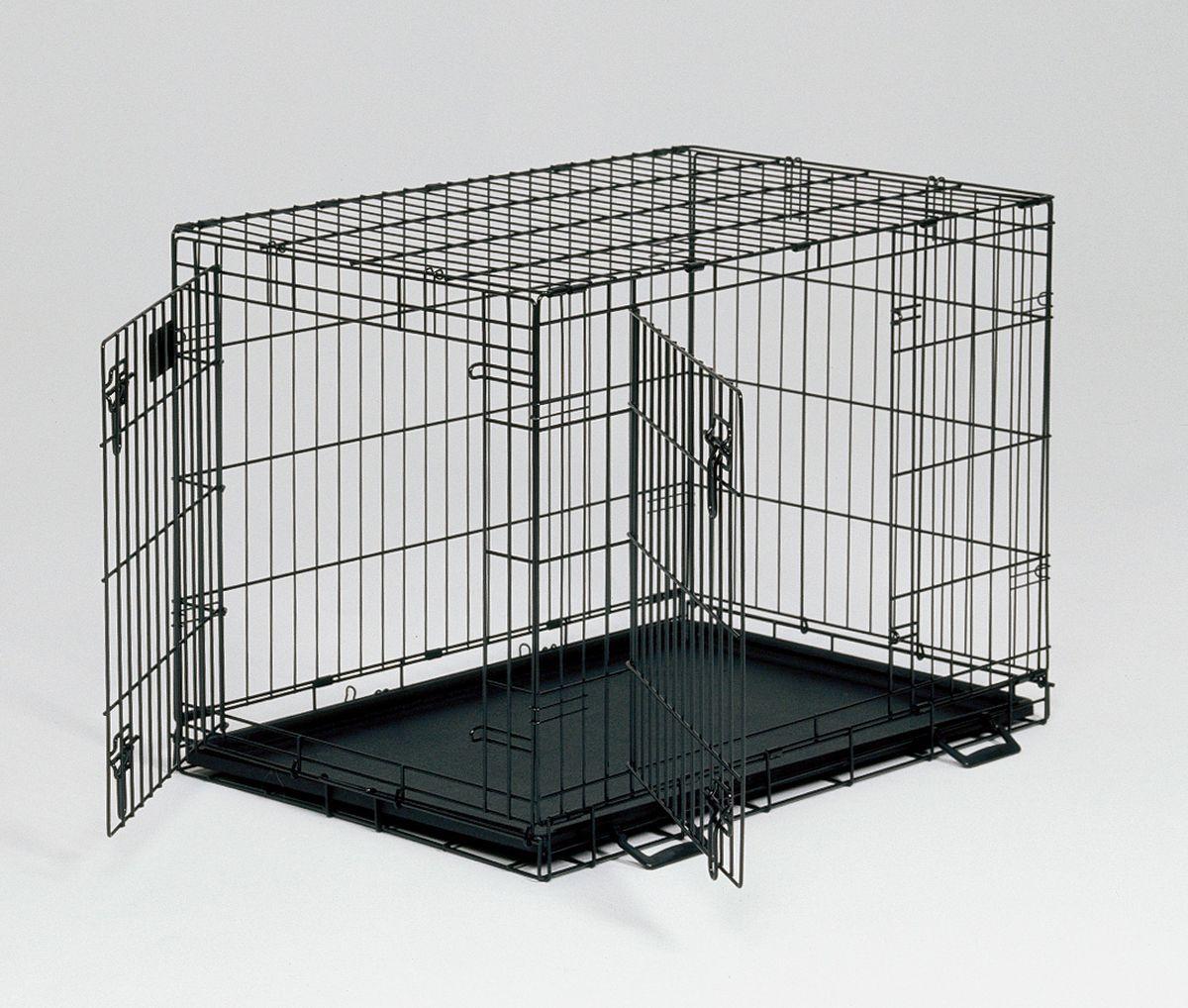 Клетка Midwest Life Stage, 2 двери, 91 x 61 x 69 см1636DDКлетка Midwest  Life Stag A.C.E. разработана специально для транспортировки средних и крупных собак. Закругленная угловая защита обеспечивает безопасность питомцам и людям. Клетка из нержавеющей стали оснащена: - двумя надежными дверками; - безопасным двойным замком (задвижка закрывает и снаружи и внутри); - прочным пластиковым поддоном, который не повреждает поверхность, на которой размещается; - разделяющей панелью, обеспечивающей создание универсальных отсеков; - качественными ручками для переноски питомца.Размер клетки (ДхШхВ): 91 x 61 x 69 см. Вес конструкции: 13,6 кг.Товар сертифицирован.