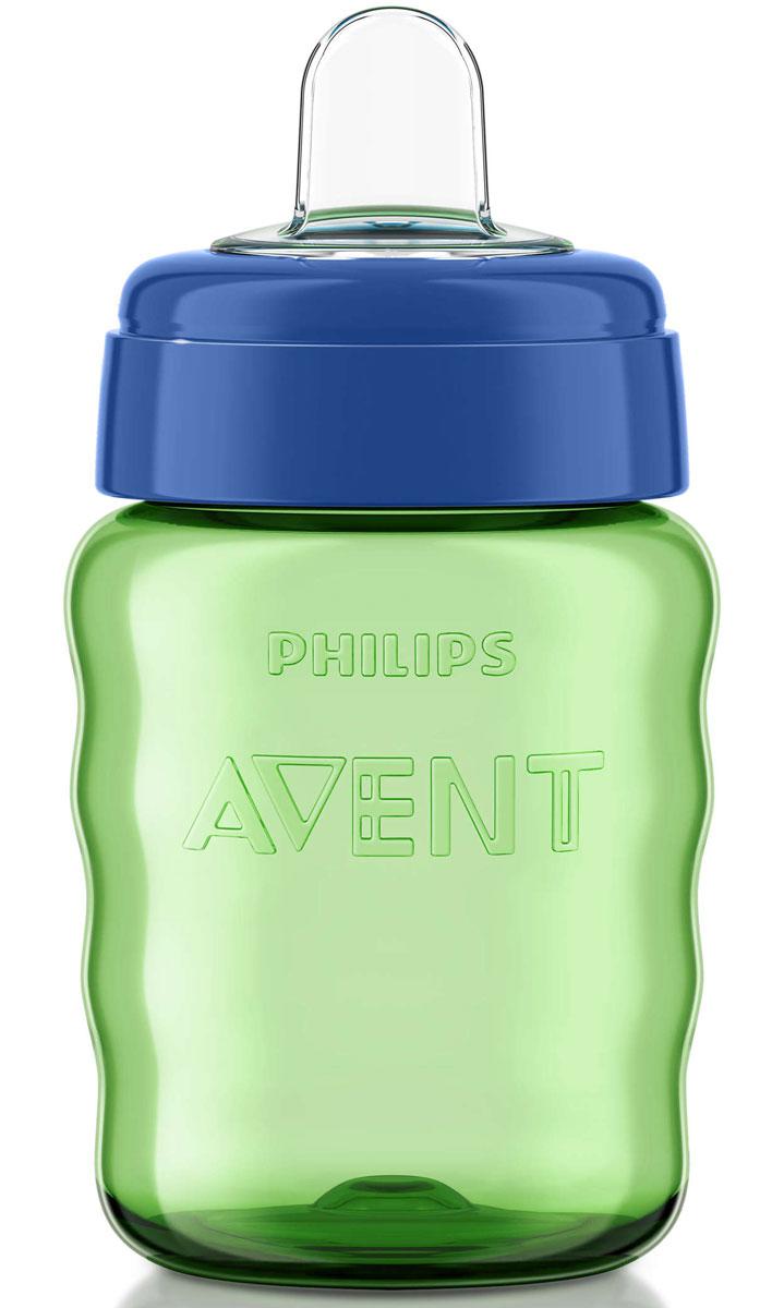 Philips Avent Поильник-непроливайка Comfort от 12 месяцев цвет салатовый синий 260 мл SCF553/00 -  Поильники