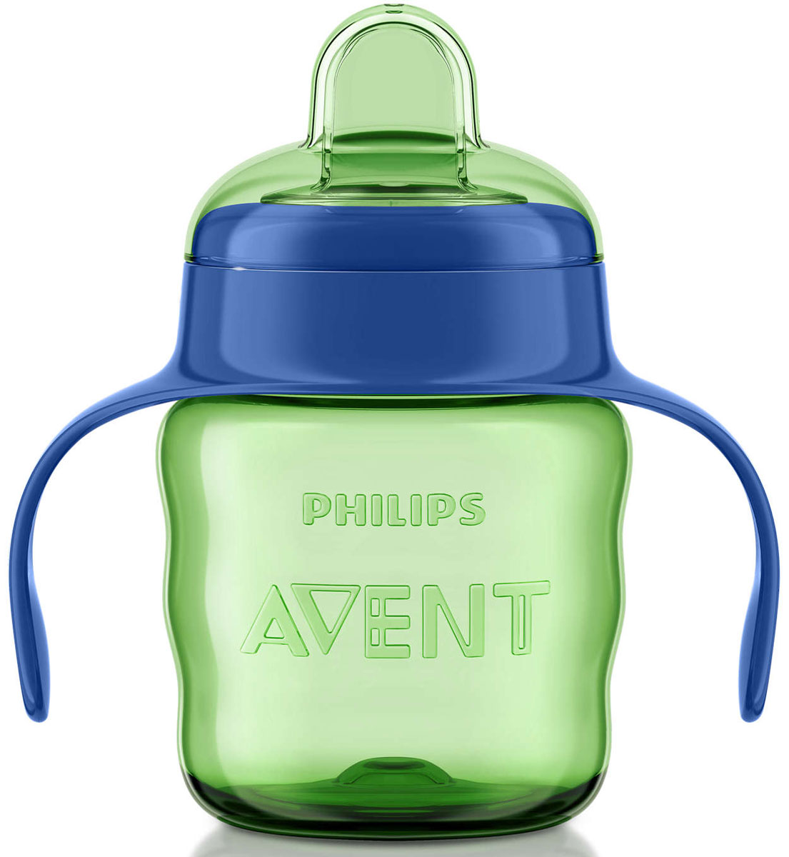 Philips Avent Чашка-поильник Comfort от 6 месяцев цвет салатовый синий 200 мл SCF551/00 usb rechargeable foldable touch dimming desk lamp 42 led 3 brightness adjustable eye protect ultra thin reading study lamp