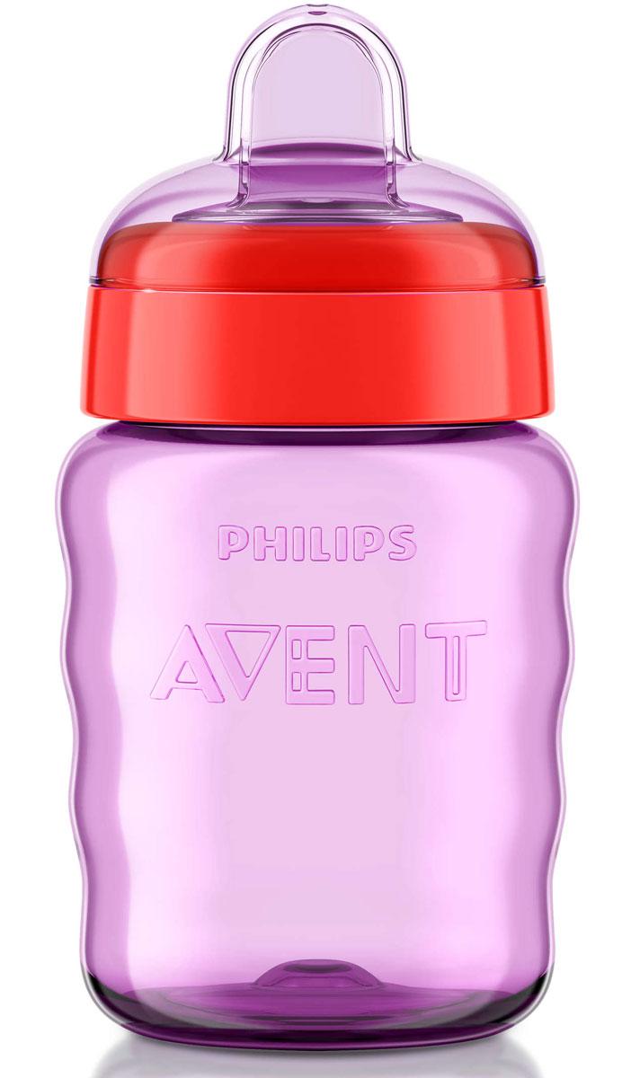 Philips Avent Поильник-непроливайка Comfort от 12 месяцев цвет фиолетовый красный 260 мл SCF553/00 -  Поильники
