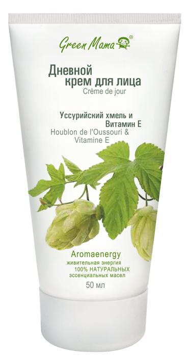 Green Mama Дневной крем для лица Уссурийский хмель и витамин Е, 50 мл декоративная косметика green mama