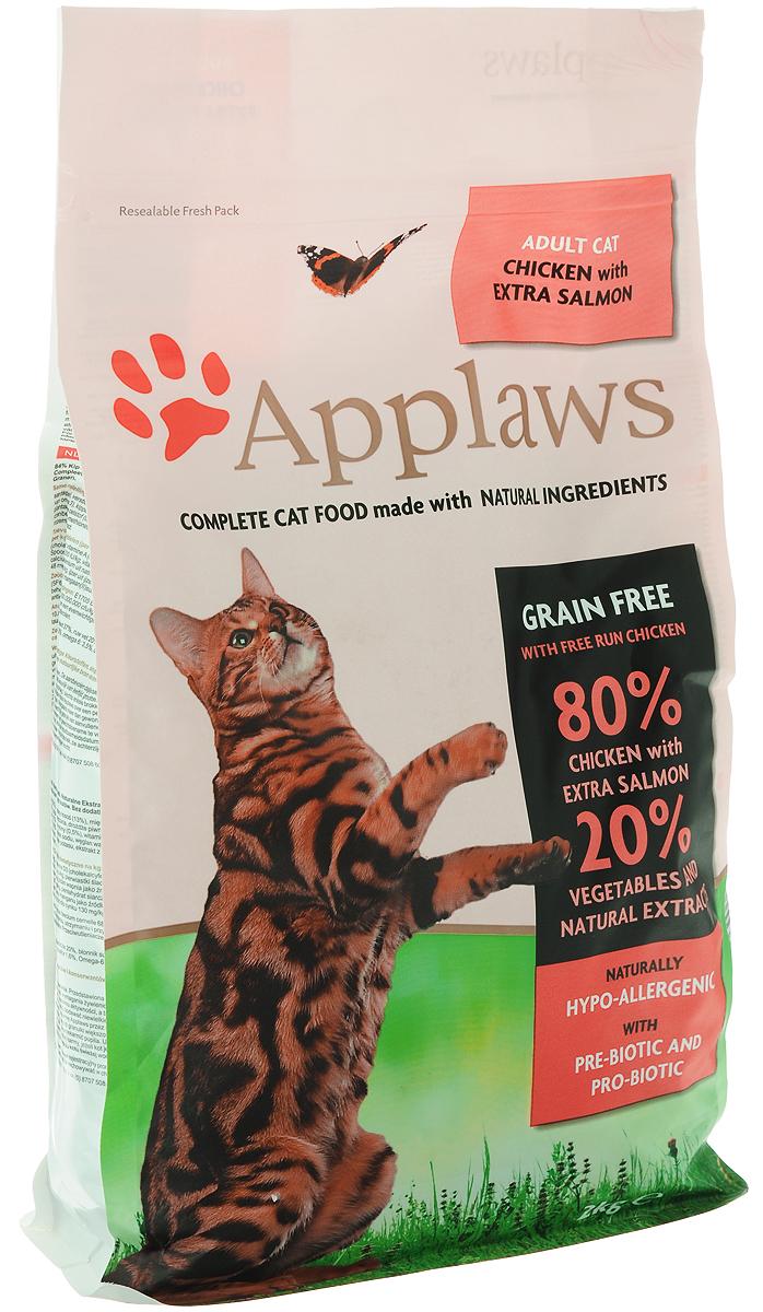 Корм сухой Applaws для кошек, беззерновой, с курицей, лососем и овощами, 2 кг24396Беззерновой корм для кошек Applaws изготовлен по особым рецептам, разработанным диетологами института Великобритании. Правильная диета очень важна для питомцев, ведь она меняется в зависимости от жизненного цикла. Также полнорационный корм должен включать в себя необходимое количество витаминов и минералов. В рецепте сухого корма Applaws учтен не только перечень наиболее необходимых минералов и витаминов, но и их строгий баланс. Так как сухой корм изготавливается только из натуральных качественных ингредиентов, крокеты привлекут внимание любого, даже очень привередливого питомца. Состав: дегидрированное мясо цыпленка минимум 47%, дегидрированное филе лосося минимум 19%, молодой картофель минимум 4%, жир домашней птицы минимум 8% (источник Омега 6), подлива из мяса птицы, приготовленной в собственном соку минимум 4%, лососевый жир (источник Омега 3), свекла минимум 3%, яичный порошок минимум 3%, пивные дрожжи, клетчатка, минералы, хлорид натрия, карбонат кальция, сушеные водоросли, клюква.Пищевые добавки: витамин А 26,852 МЕ/кг, витамин D3 1,852 МЕ/кг, витамин Е 593 МЕ/кг.Микроэлементы: селен (селенит натрия) 0,13 мг/кг, йод (безводный йодат кальция) 1,75 мг/кг, железо (сульфат железа моногидрат) 61 мг, медь (сульфат меди пентрагидрад) 9 мг/кг, марганец (сульфат марганца моногидрат) 26 мг/кг, цинк (сульфат цинка моногидрат) 140 мг/кг.Прочие добавки: натуральный консервант - токоферол.Гарантированный анализ: белки 37%, жиры 19,7%, клетчатка 3%, зола 10%, кальций 2,1%, фосфор 1,4%, таурин 2000 мг/кг Товар сертифицирован.