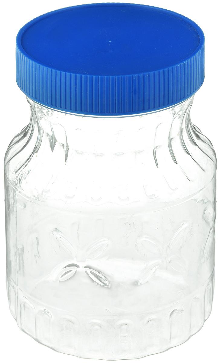 Банка Альтернатива Медовая, цвет: синий, прозрачный, 700 млM966_синий, прозрачныйБанка Альтернатива Медовая изготовлена из пластика. Изделие абсолютно безопасно для контакта с пищевыми продуктами. Банка закрывается крышкой, которая защищает содержимое от влаги и сохраняет продукты ароматными и свежими. В такой банке можно хранить мед, варенье, различные сыпучие продукты. Она практична и функциональна, пригодится в любом хозяйстве.Диаметр банки (по верхнему краю): 8 см.Высота банки (с учетом крышки): 14 см.