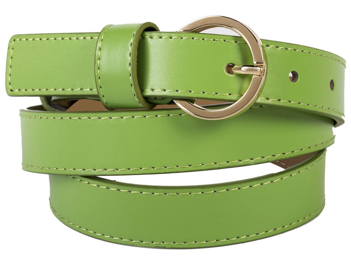 Ремень женский Модные истории, цвет: зеленый. 91/0202/243. Размер 115