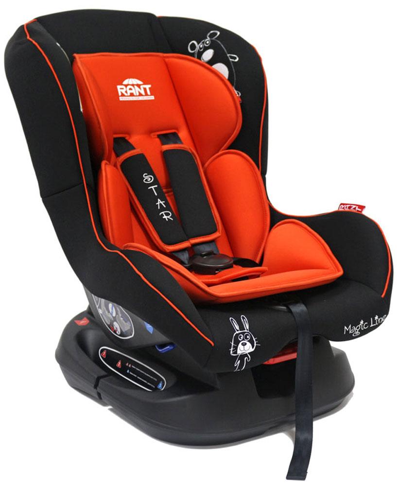Rant Автокресло Star цвет красный до 18 кг4630008876695Детское автокресло Rant Star предназначено для детей с рождения и до 18 кг (приблизительно до 4-х лет). Автокресло может устанавливаться как по ходу движения, так и против хода движения. Для новорожденного малыша (0+, 9 кг) автокресло фиксируется в автомобиле против хода движения (лицом назад) пока малыш научится хорошо сидеть. С 7-8 месяцев автокресло фиксируется лицом вперед и эксплуатируется приблизительно до 4-х лет (9+, 18 кг).Особенности: Удобное сидение анатомической формы с мягким матрасиком делает кресло удобным, комфортным и безопасным для малышей. Усиленная мягкая боковая защита обеспечит безопасность и защитит ребенка от ударов при боковых столкновениях. Спинка автокресла имеет регулировку наклона в 3-х положениях. Положение наклона спинки автокресла для комфортного сна в длительных поездках легко регулируются одной рукой при помощи специального рычажка, расположенного в передней части автокресла под чехлом. Автокресло оснащено 5-ти точечными ремнями безопасности с мягкими плечевыми накладками (уменьшают нагрузку на плечи малыша). Накладки обеспечивают плотное прилегание и надежно удержат малыша в кресле в случае ударов. Ремни удобно регулировать под рост и комплекцию ребенка без особых усилий. Автокресло Star имеет прочную базу, позволяющую устанавливать кресло не только в автомобиле, но и на других ровных твердых поверхностях. Съемный чехол автокресла Star изготовлен из гипоаллергенной эластичной ткани, легко чистится и стирается вручную или в деликатном режиме в стиральной машине при температуре 30°.Крепление и установка: Установка автокресла возможна в двух положениях: против хода движения (если малышу от 0 до 7-8 месяцев) или по ходу движения (если малышу от 7-8 месяцев и до 4-х лет). Кресло легко и быстро крепится в автомобиле с помощью штатных ремней безопасности. Правильность прохождения ремней безопасности обеспечивается специальными направляющими зацепками, предусмотренными по бокам автокре