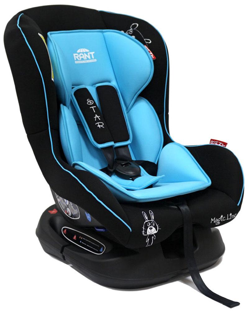 Rant Автокресло Star цвет голубой до 18 кг4630008876701Детское автокресло Starпредназначено для детей с рождения идо 18 кг (приблизительно до 4-х лет).Автокресло может устанавливаться как по ходу движения, так и против хода движения. Для новорожденного малыша (0+, 9 кг) автокресло фиксируется в автомобиле против хода движения (малыш лицом назад) пока малыш научится хорошо сидеть. С 7-8 месяцев автокресло фиксируется лицом вперед и эксплуатируется приблизительно до 4-х лет (9+, 18 кг).Особенности: Удобное сидение анатомической формы с мягким матрасиком делает кресло удобным, комфортным и безопасным для малышей. Усиленная мягкая боковая защита обеспечит безопасность и защитит ребенка от ударов при боковых столкновениях.Спинка автокресла имеет регулировку наклона в 3-х положениях. Положение наклона спинки автокресла для комфортного сна в длительных поездках легко регулируются одной рукой при помощи специального рычажка, расположенного в передней части автокресла под чехлом.Автокресло оснащено 5-ти точечными ремнями безопасности с мягкими плечевыми накладками (уменьшают нагрузку на плечи малыша). Накладки обеспечивают плотное прилегание и надежно удержат малыша в кресле в случае ударов. Ремни удобно регулировать под рост и комплекцию ребенка без особых усилий.Автокресло Star имеет прочную базу, позволяющую устанавливать кресло не только в автомобиле, но и на других ровных твердых поверхностях.Съемный чехол автокресла Star изготовлен из гипоаллергенной эластичной ткани, легко чистится и стирается вручную или в деликатном режиме в стиральной машине при температуре 30 градусов.Крепление и установка:Установка автокресла возможно в двух положениях: против хода движения (если малышу от 0 до 7-8 месяцев) или по ходу движения (если малышу от 7-8 месяцев и до 4-х лет). Кресло легко и быстро крепиться в автомобиле с помощью штатных ремней безопасности. Правильность прохождения ремней безопасности обеспечивается специальными направляющими «зацепками», предусмотренными по бокам авт