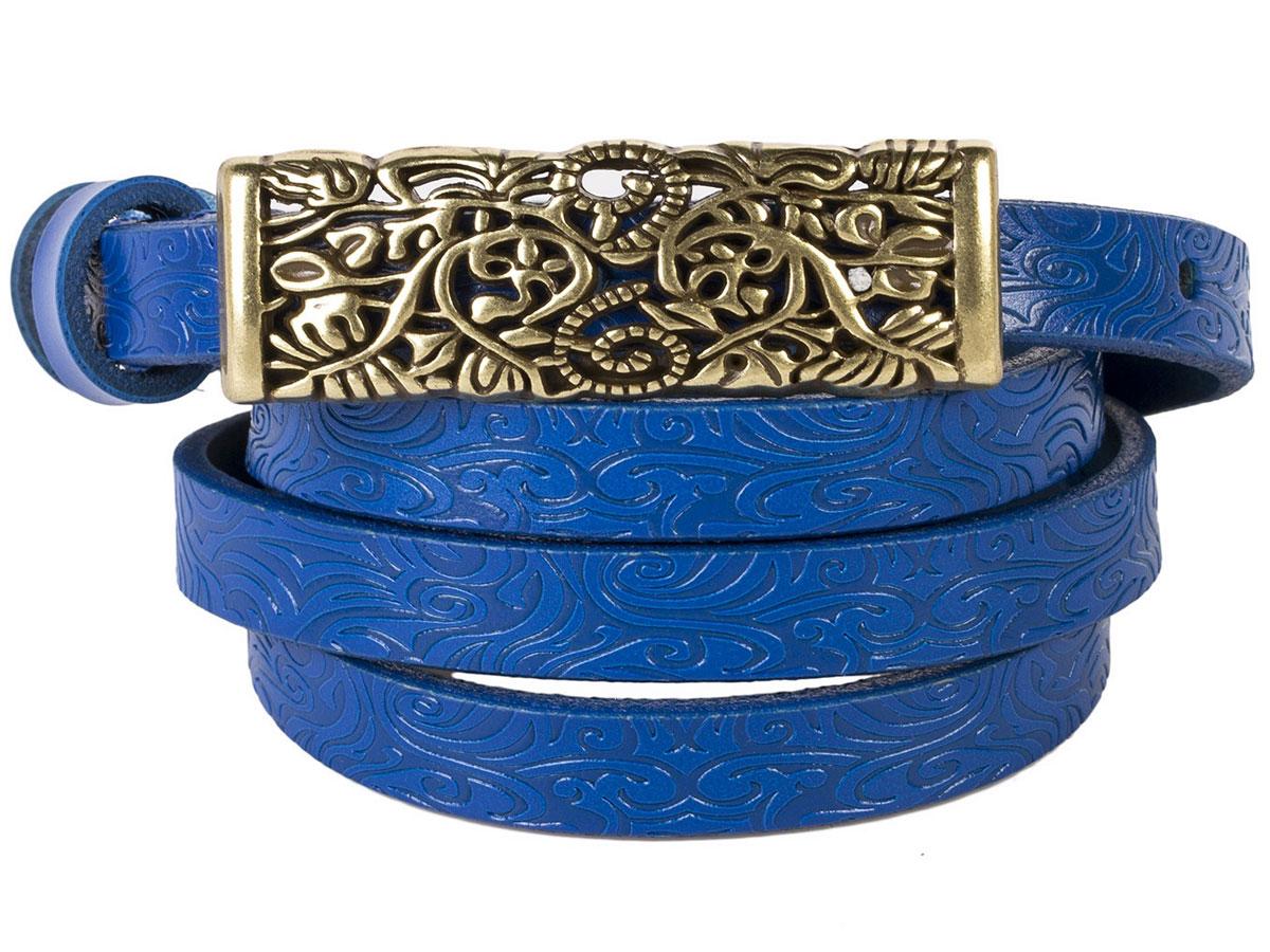 Ремень женский Модные истории, цвет: темно-синий. 91/0207/181. Размер 120