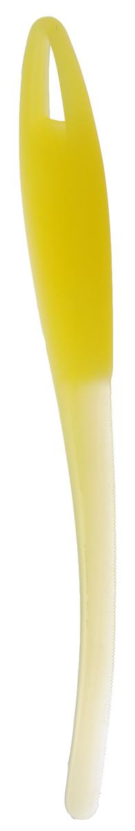 Нож для арбуза и дыни Tescoma Presto, цвет: желтый, длина 23 см420622_желтыйНож Tescoma Presto предназначен для отделения кожуры арбуза и дыни от мякоти. Подходит для арбузов, желтой дыни, подмаренника, мускусной дыни. Нож выполнен из высококачественного устойчивого пластика.Можно мыть в посудомоечной машине.