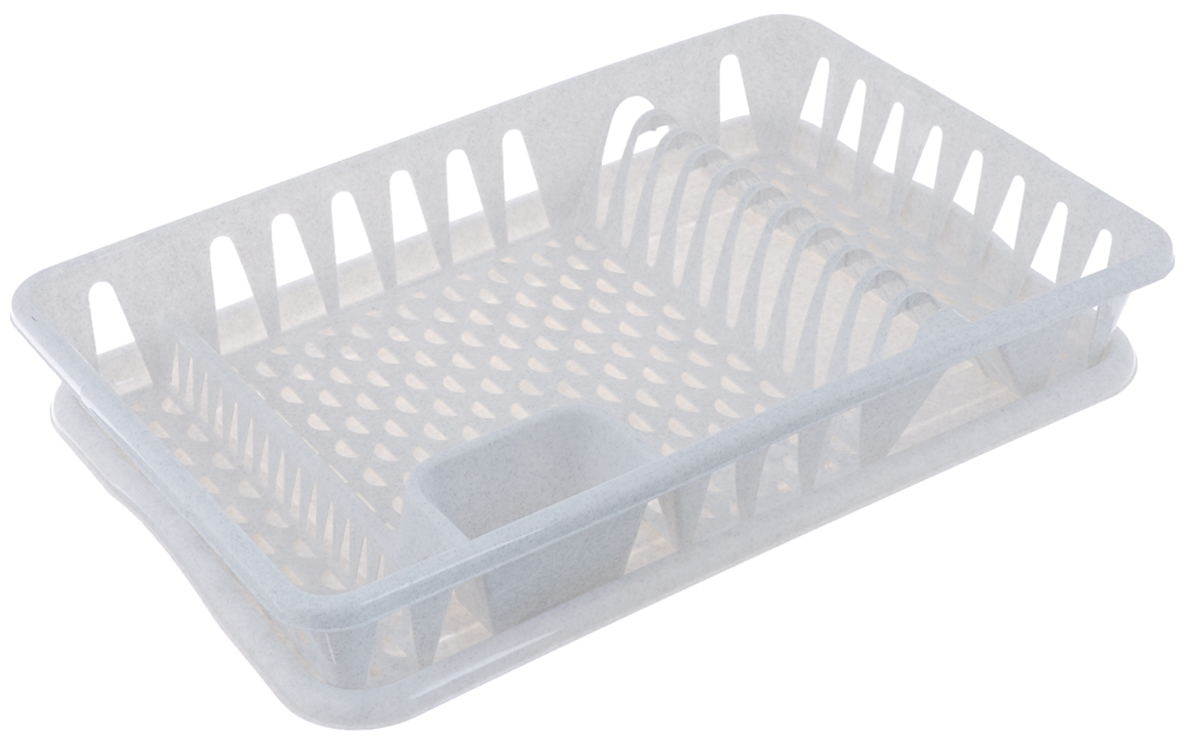Сушилка для посуды Idea, с поддоном, цвет: мраморный, 50 х 32,5 х 8 смМ 1169Сушилка Idea, выполненная из прочного пластика, представляет собой решетку с ячейками, в которые помещается посуда: тарелки, кружки, ложки, ножи. Изделие оснащено пластиковым поддоном для стекания воды. Сушилку можно установить в любом удобном месте. На ней можно разместить большое количество предметов. Вместительные размеры и оригинальный дизайн выделяют эту сушку из ряда подобных.Размер сушилки: 46,5 см х 37 см х 9 см. Размер поддона: 48,5см х 32 см х 2,5 см.