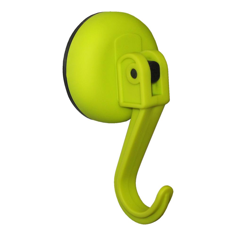 Крючок Tatkraft Kalev Magic Hook, на вакуумной присоске, цвет: зеленый tatkraft mega lock