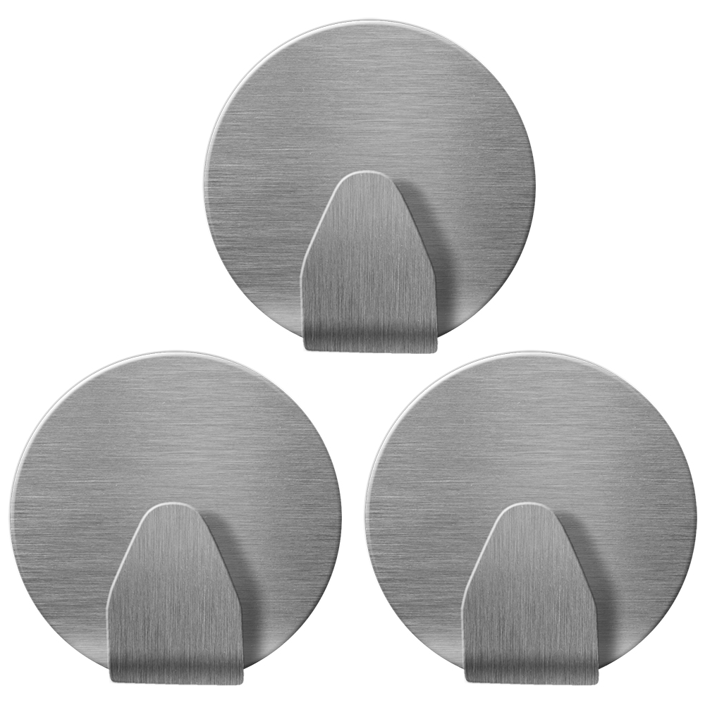 """Крючки круглые Tatkraft """"Runda"""" - набор из трех крючков на самоклеящийся основе, из нержавеющей стали. Выдерживают вес до 5 кг. Надежная фиксация, не оставляют следов."""