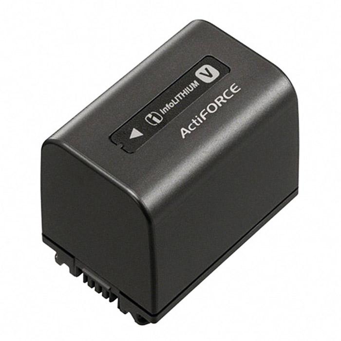 Sony NP-FV70 батареяNP-FV70Набор заряжаемых аккумуляторов InfoLITHIUM Sony NP-FV70 помогает максимально продлить время съемки по сравнению с аккумулятором из комплекта поставки.Увеличенная продолжительность съемкиУскоренная зарядка при помощи дополнительного адаптера AC-VQV10Емкость на 15% больше, чем у предыдущей моделиТехнология ActiFORCE обеспечивает увеличенную емкость аккумулятора, ускоренную зарядку и более быстрое и точное определение оставшегося заряда